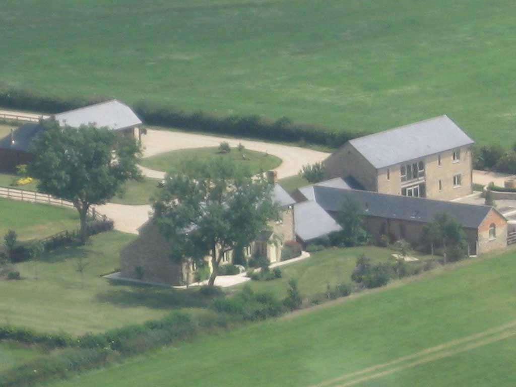 Aerial View of The Dusthouses, Powder barn & the Stable Block
