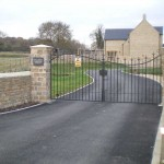 Hall Farm Paddocks Gated Entrance