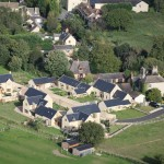 Aerial view of Hall Farm Paddocks, Begbroke